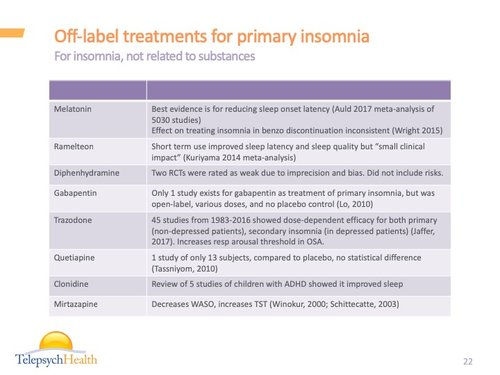 Substance use and its effects on sleep — Online Psychiatric