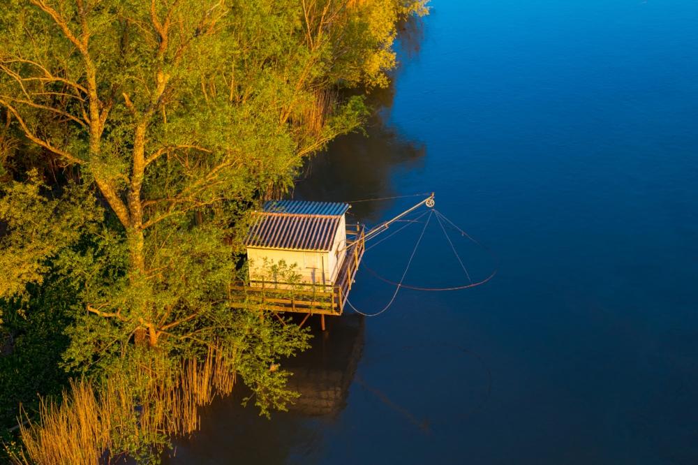 Une cabane de pêcheur sur la Dordogne N°G1