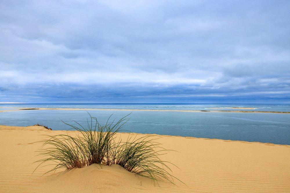 Ciel nuageux sur la dune du Pilat photo BA 19