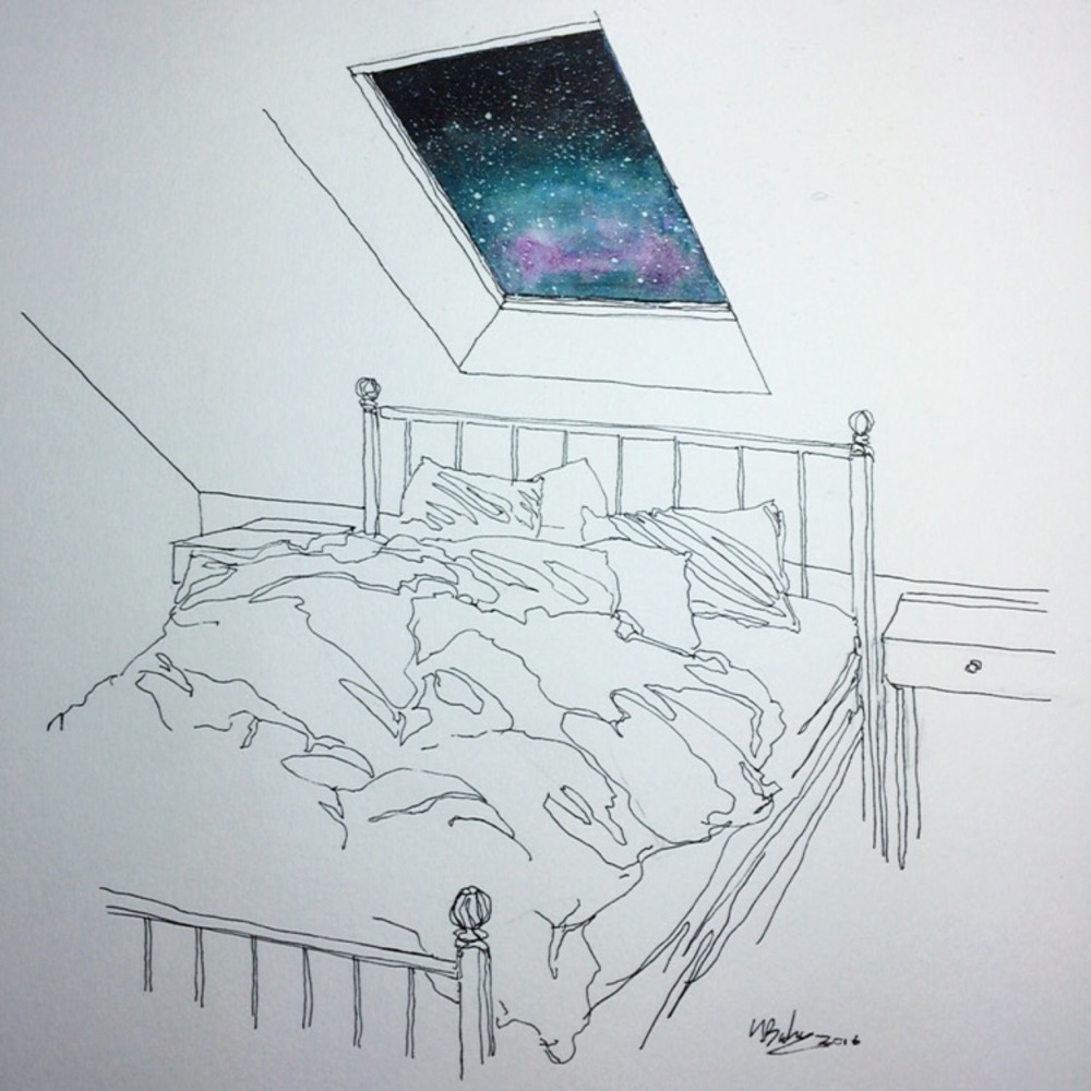 Tonight I'll Sleep Under the Stars  - by Henry Baker ( tumblr )