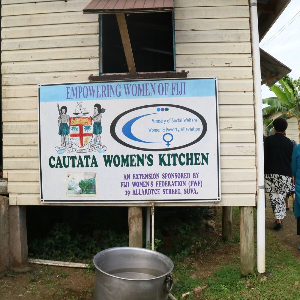 The sign outside the Caucata Woman's Kitchen & Hall