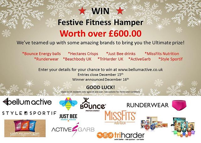 #COMPETITION TIME! Festive fitness hamper worth over £600 could be yours! Visit bellumactive.co.uk & enter your details. Good luck #win