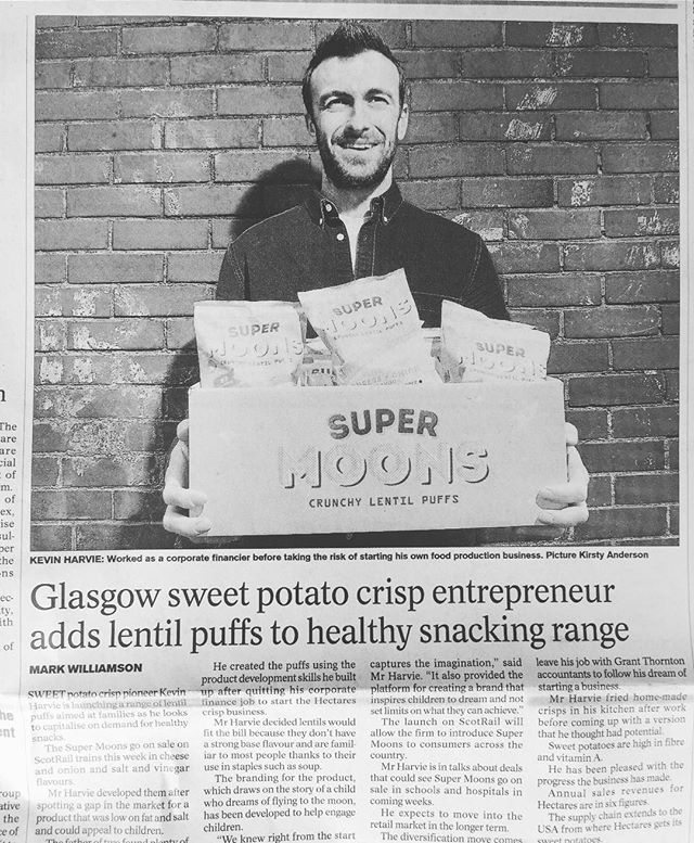 A little piece of old school paper press about our new Lentil Puff brand Super Moons! Check it out...link in bio! 🚀