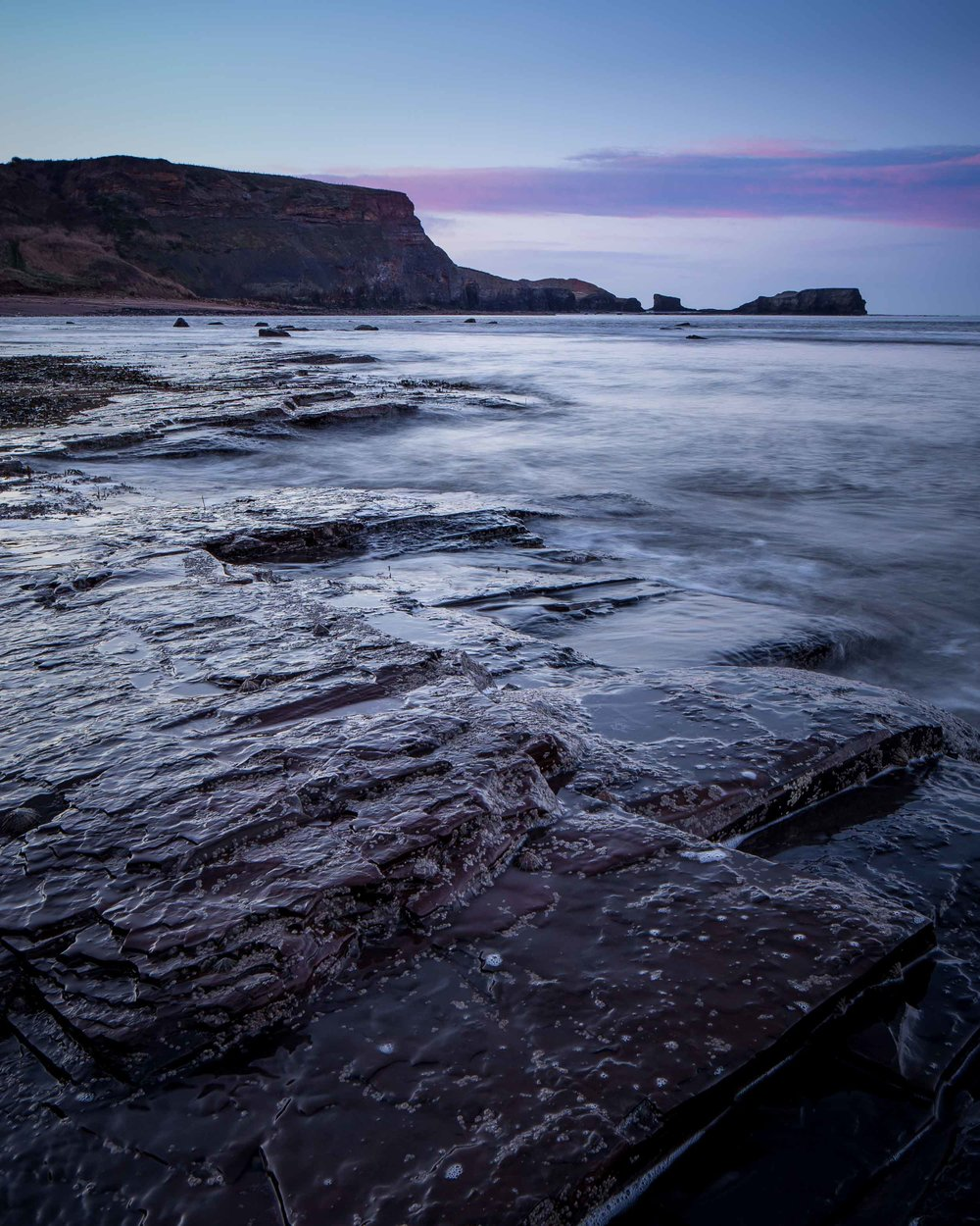 saltwick bay north york moors seascape sunrise tilt shift lens satlwick nab.jpg