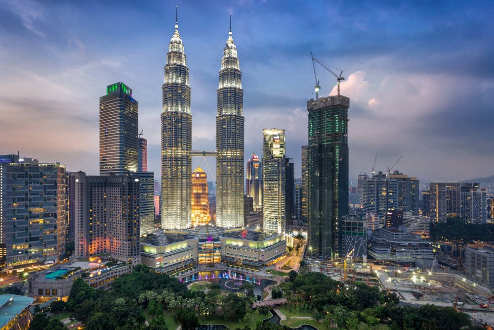 petronas twin towers kuala lumpur malaysia sunset city lights dusk.jpg