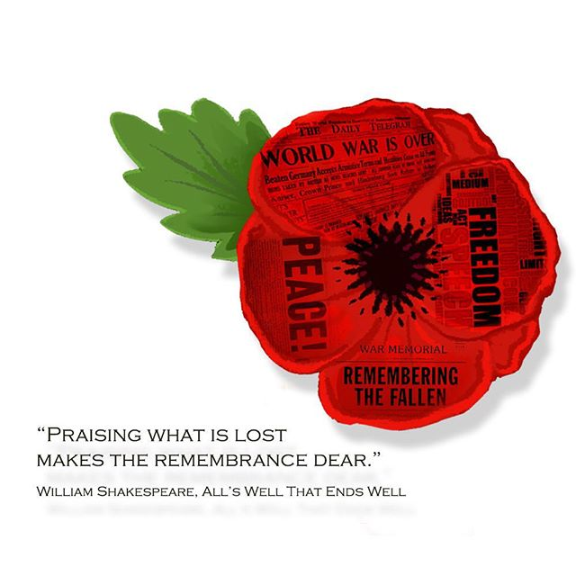 #remembrance #poppy #shakespeare