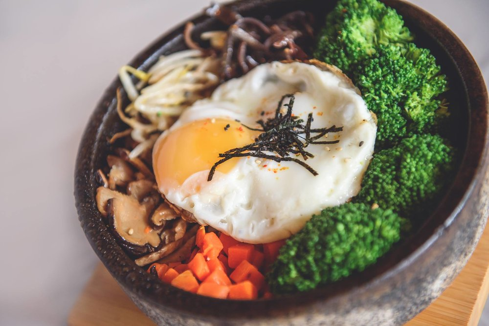 Our Signature Korean Bibimbap Dish