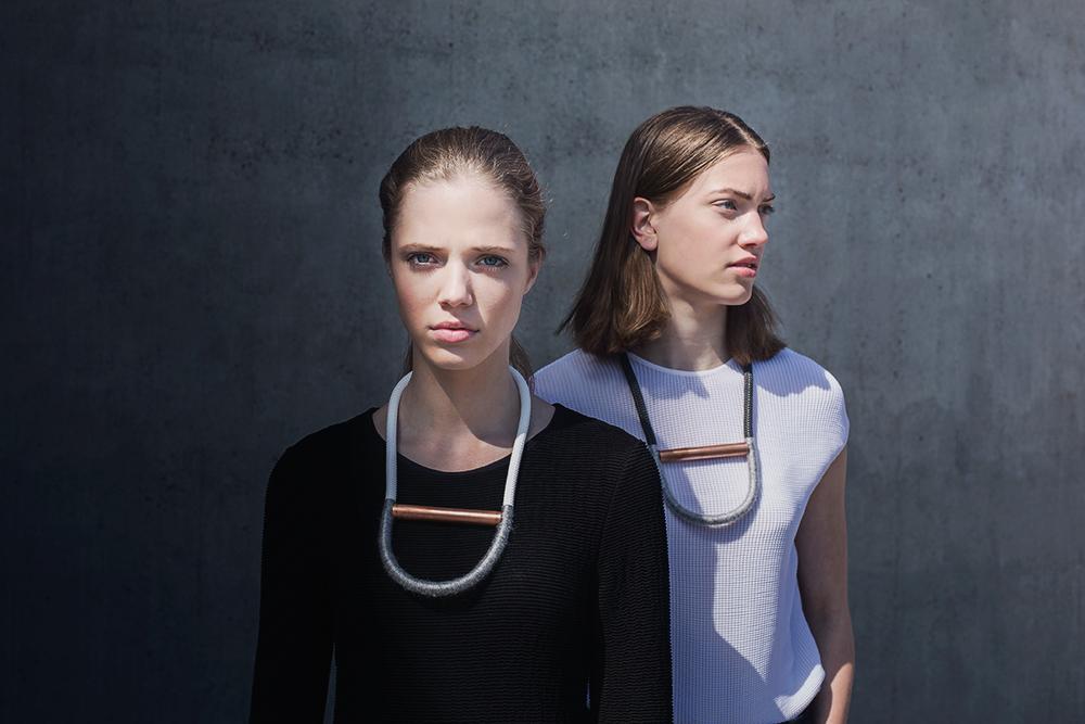 minimalist rope statement necklace