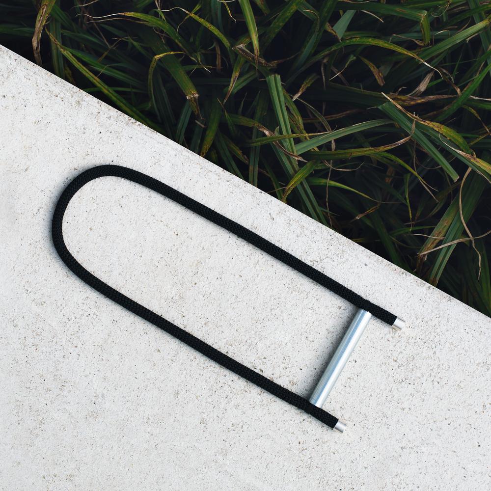 minimalist rope black necklace