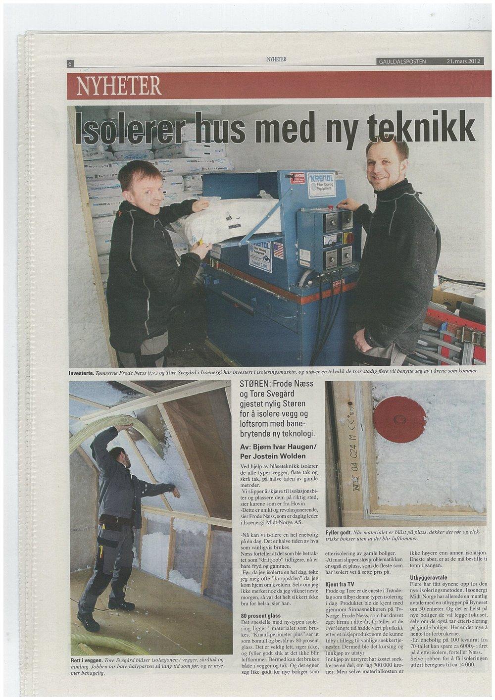 Vi isolerer hus med ny teknikk i Trondheim