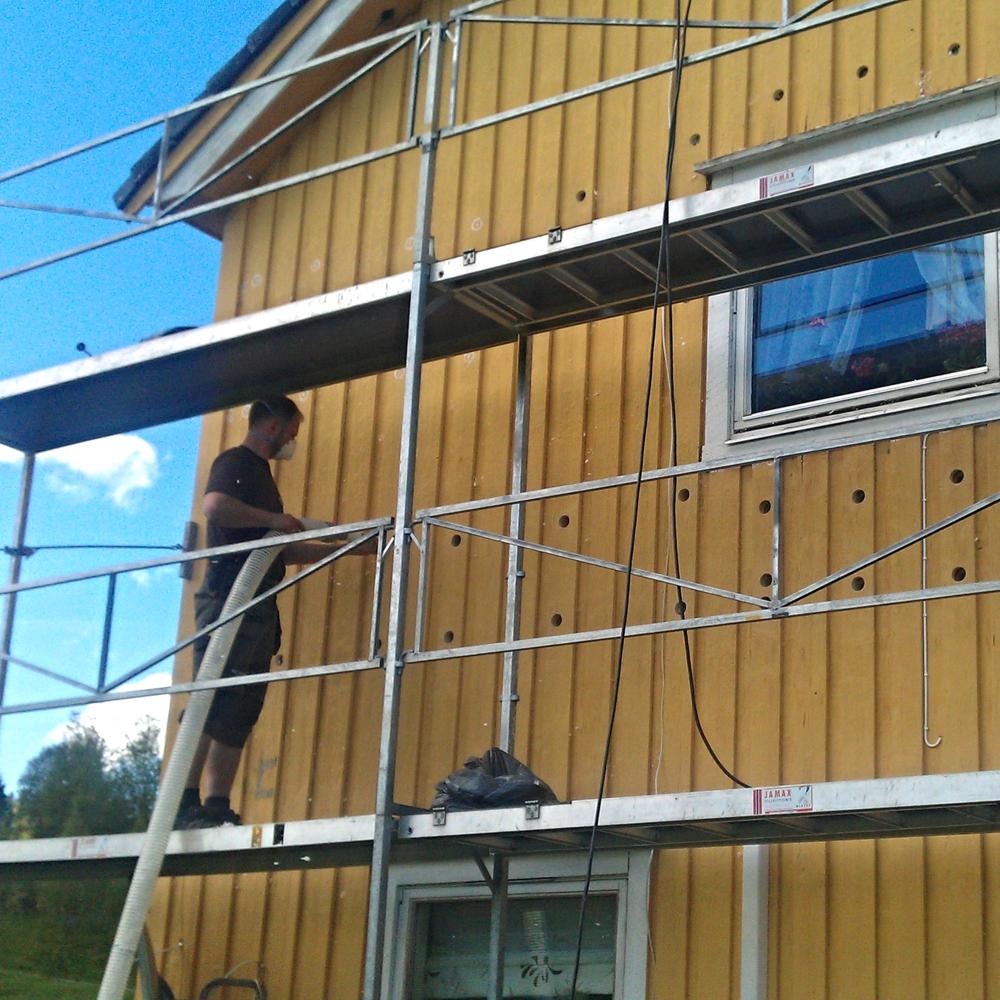 Vi har lang erfaring med etterisolering av vegger