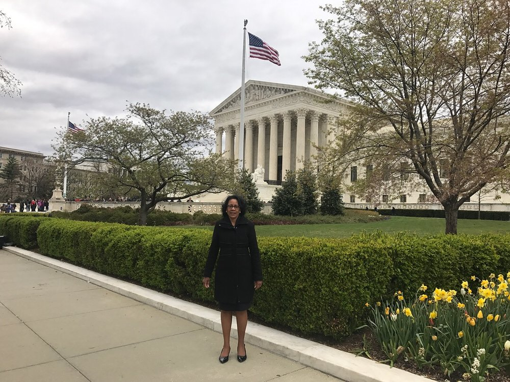 Our Principal and Founder, Darlene Wright Powell, Esq. outside of the Supreme Court of the United States following her swearing in ceremony.