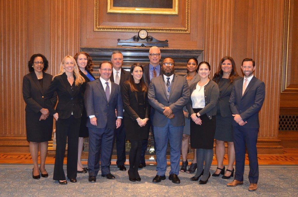 Darlene Wright Powell, Esq. alongside fellow colleagues being sworn into the Supreme Court of the United States Bar Association on April 17, 2018 following breakfast at the United States Supreme Court.