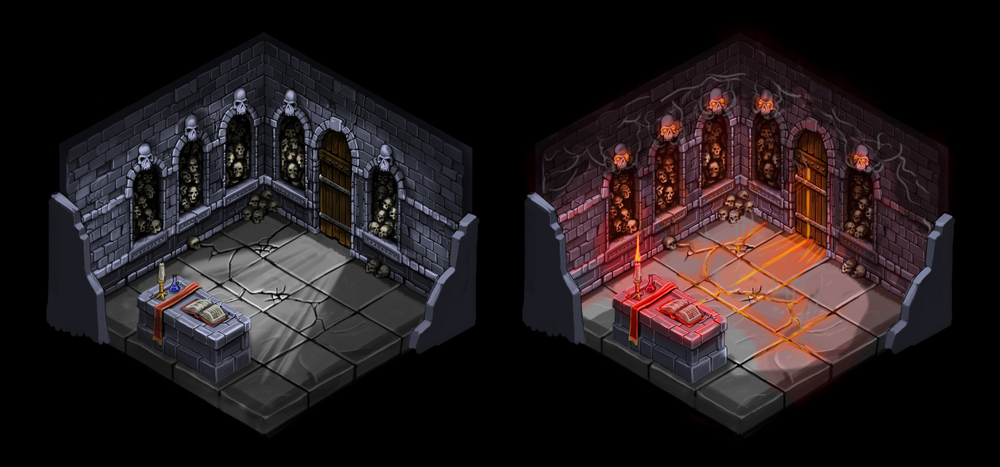 Isometric room variations 1