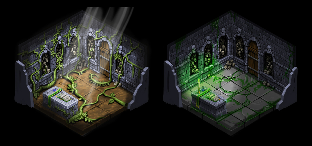 Isometric room variations 3
