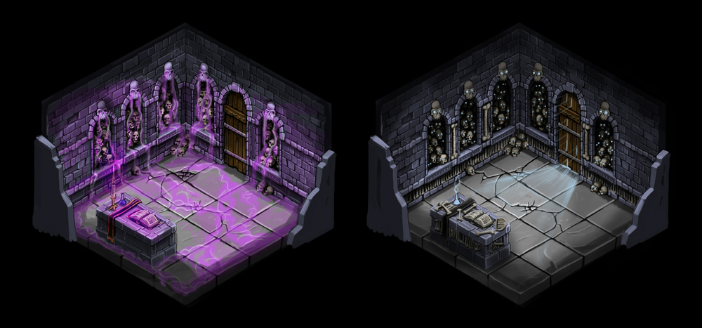 Isometric room variations 4