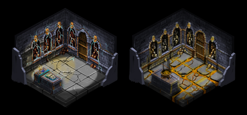 Isometric room variations 2