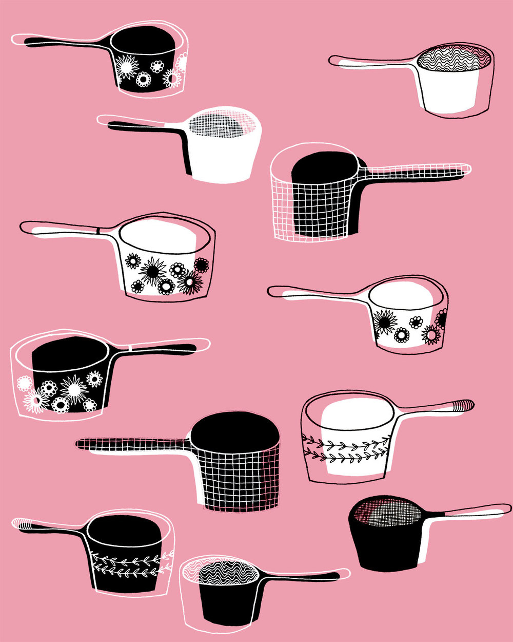 Pasta & pyres - bolt fabric design