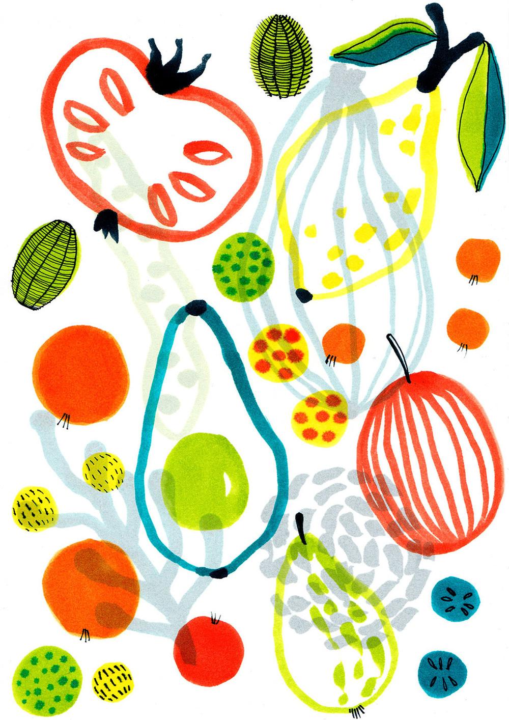 Plate design fruit