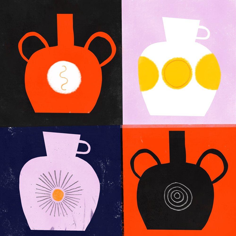 Sun & Moon Vases