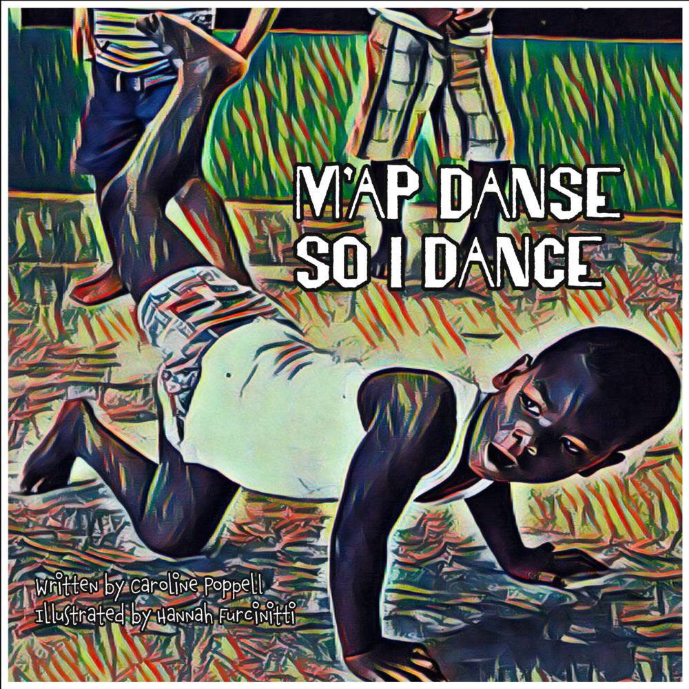 """m'ap danse / so i dance - Milk Carton on a String has released its first book! """"M'ap Danse/So I Dance"""" is written in both English and Haitian Creole. As kids read through this book, they will be taken on a journey exploring some of the emotions they feel on a daily basis and how dance and movement can help them to express these emotions. Purchase your copy at http://www.milkcartononastring.com/little-twit-publications"""