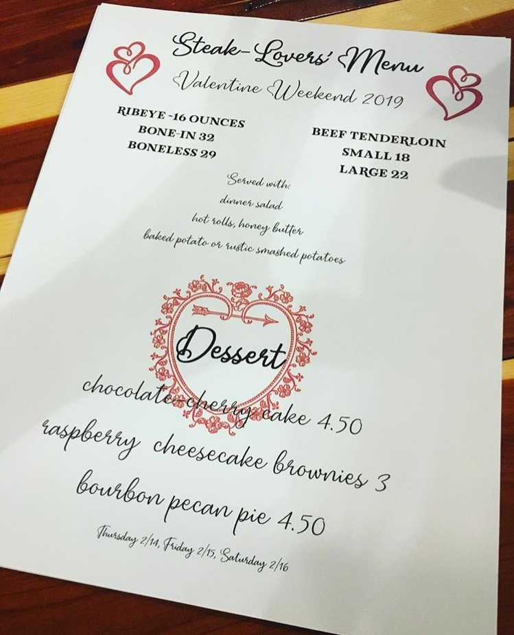 Our Specials for Valentine's Day