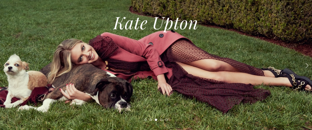 www.kateupton.com official website: Custom CSS
