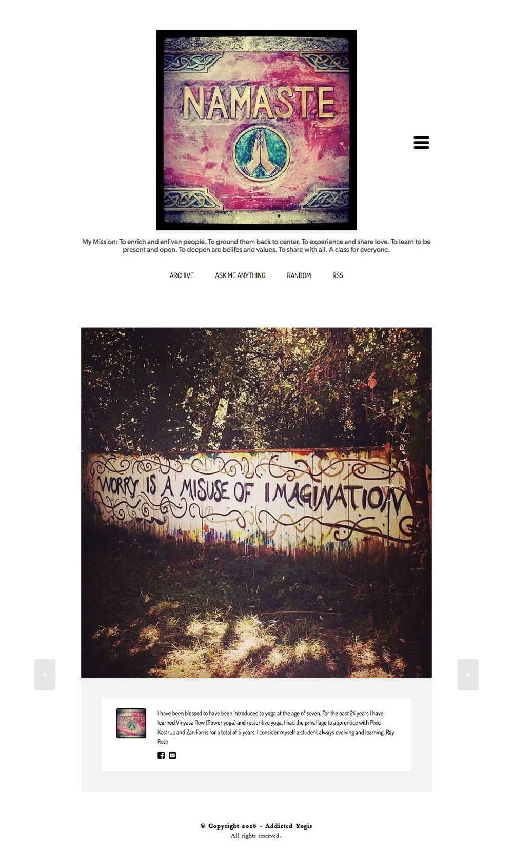 Website Design on tumblr platform