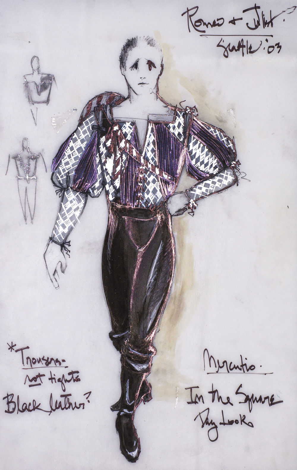 Character Analysis For Costume Design : Romeo and juliet david murin design