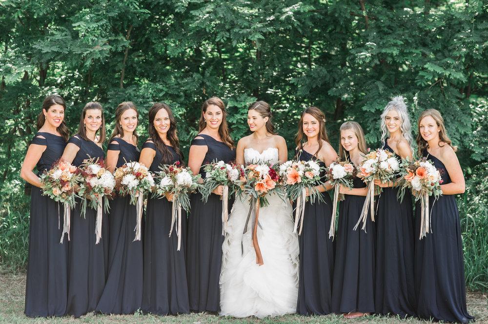 Amarillo Bridal Party, Wedding designs by Parie Designs