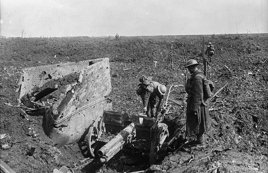 German 'Whizbang' captured at Vimy