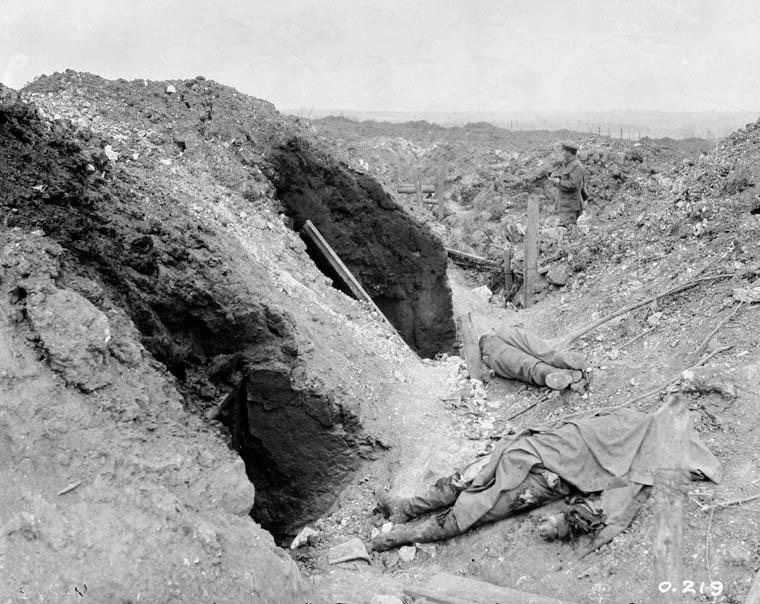 German dugouts at Mount Sorrel, June 13.