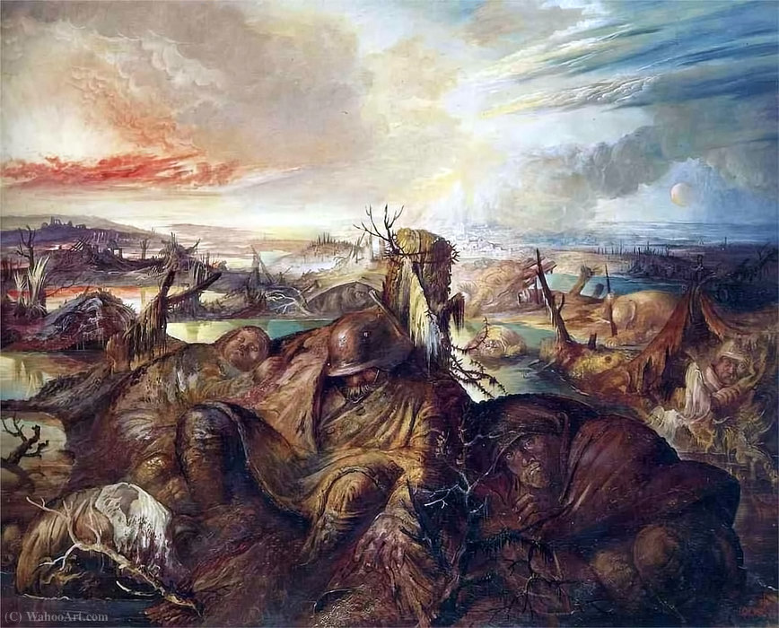Otto Dix' painting of view from German Lines toward Ypres.