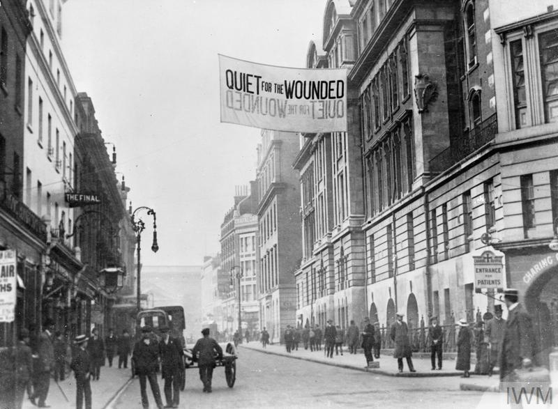 Sign outside Fulham Military Hospital