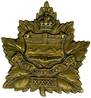 31st 'Alberta Battalion' Cap badge