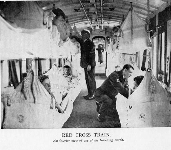 Interior: hospital train