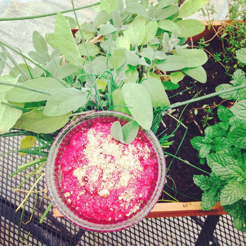 Beetroot, Horseradish & Sage Hummus