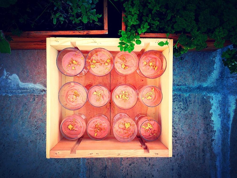 Strawberry & Avocado Hummus Pudding Glasses