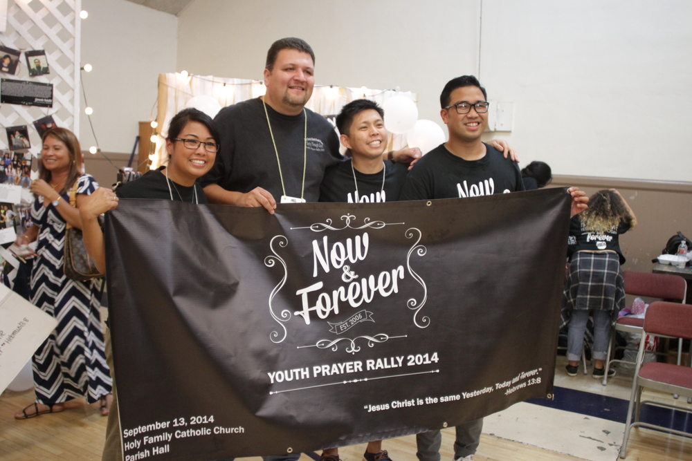 Our 4 past youth ministers at our 10th annual ypr