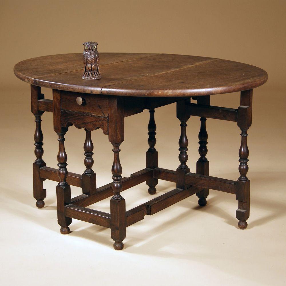 Miniature Walnut Gate Leg Table