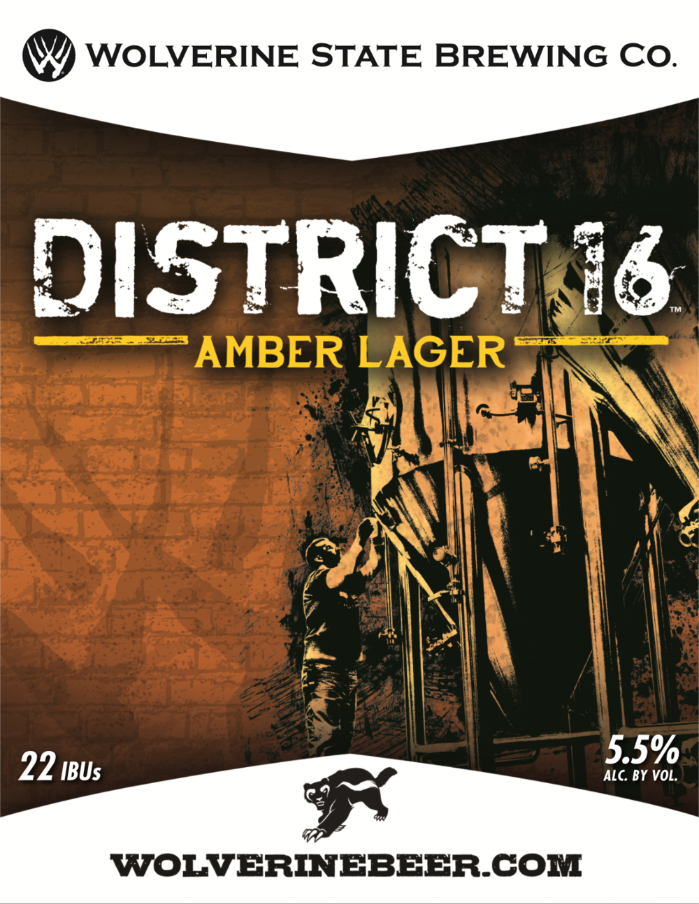 District 16 Beer Poster
