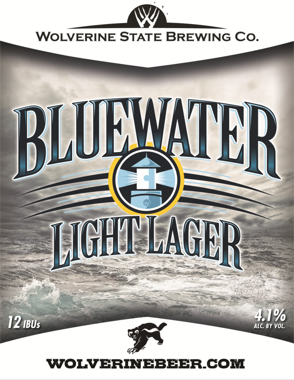 Blue Water Light Beer Poster