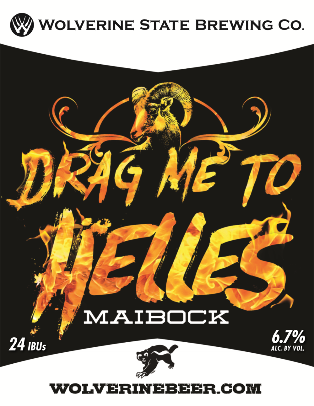 Drag Me to Helles Beer Poster