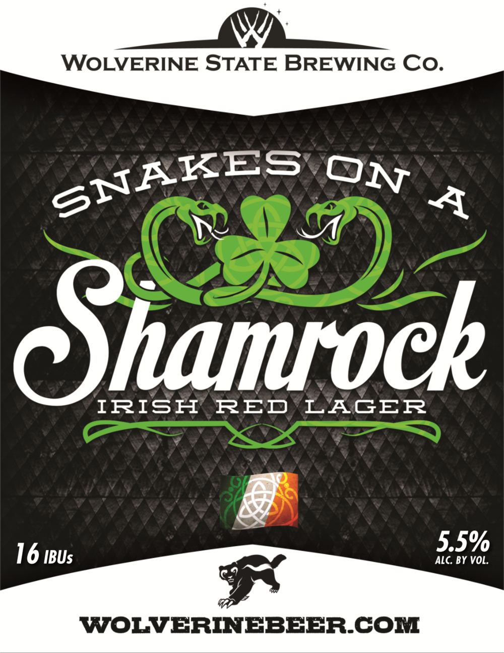 Snakes on a Shamrock Beer Poster