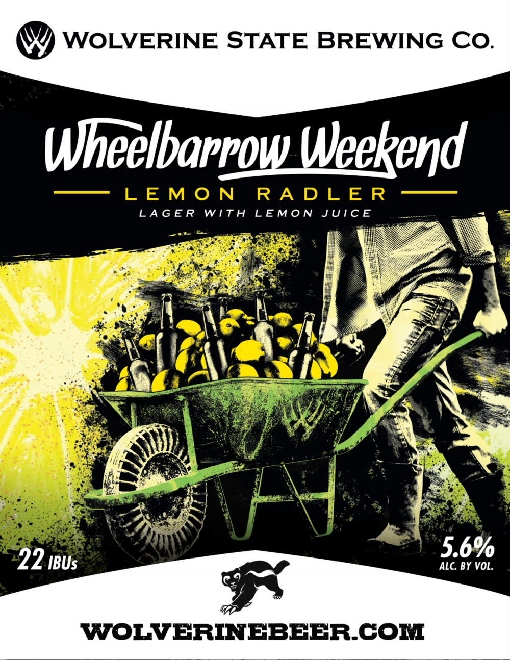 Wheelbarrow Weekend Beer Poster