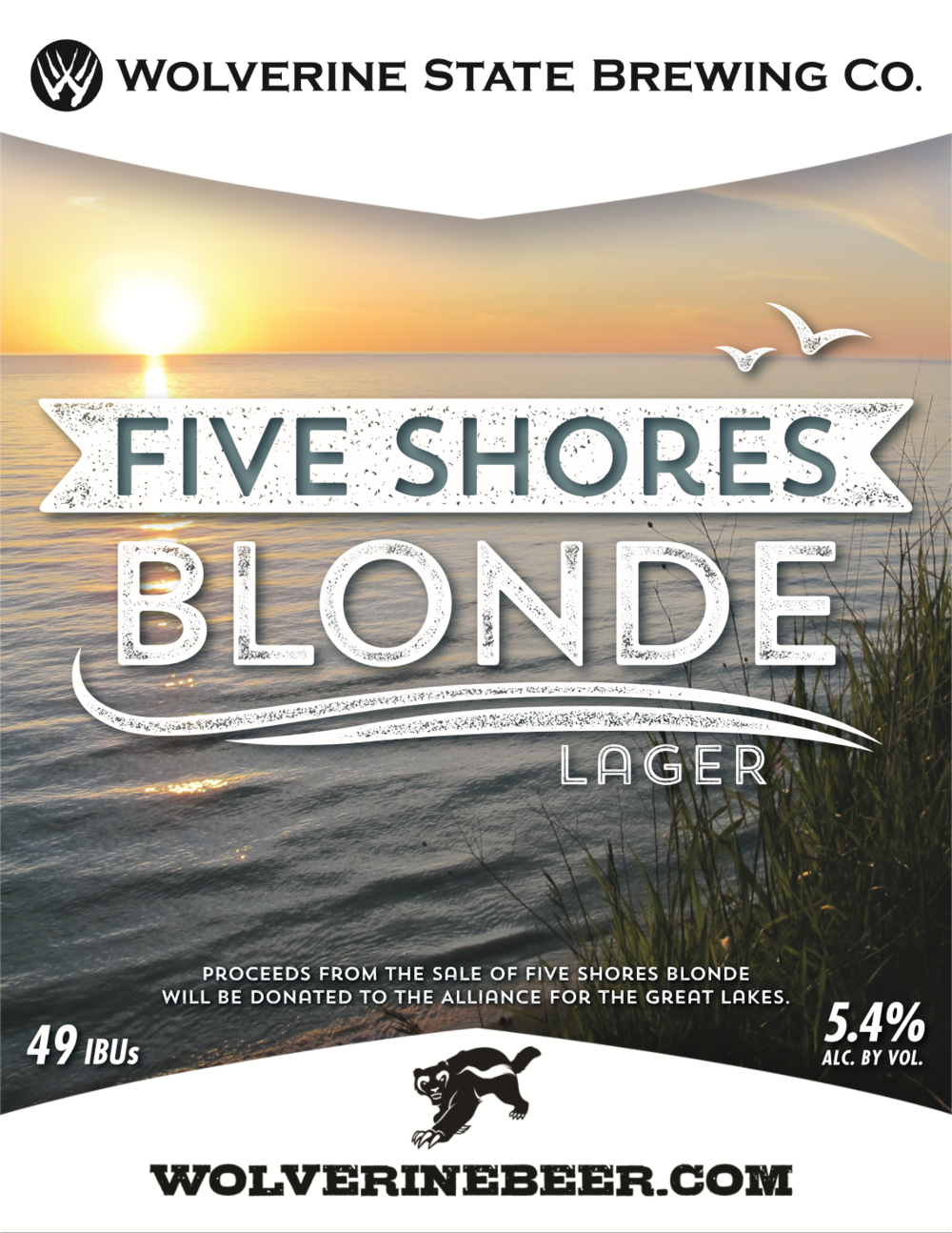 Five Shores Beer Poster