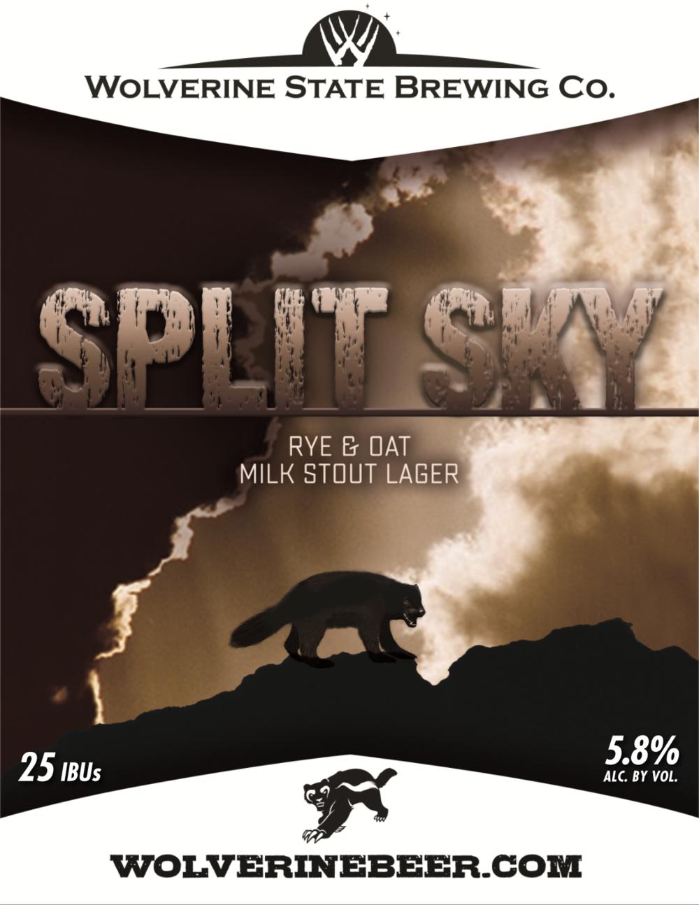 Split Sky Beer Poster