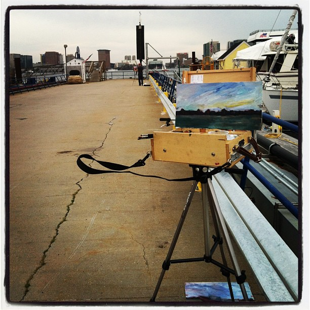 Image from one of our adventures in painting in East Boston