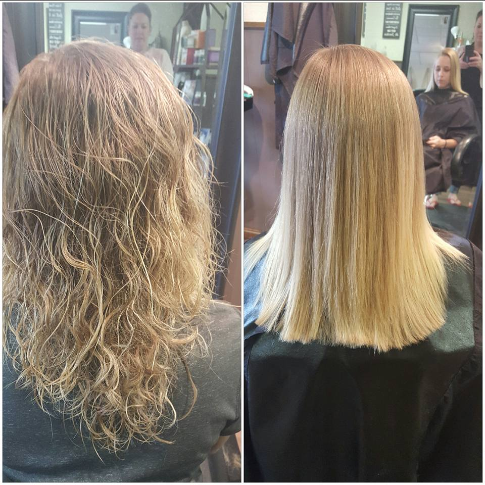 Before and After Brazilian Blowout!! Amazing Results!!