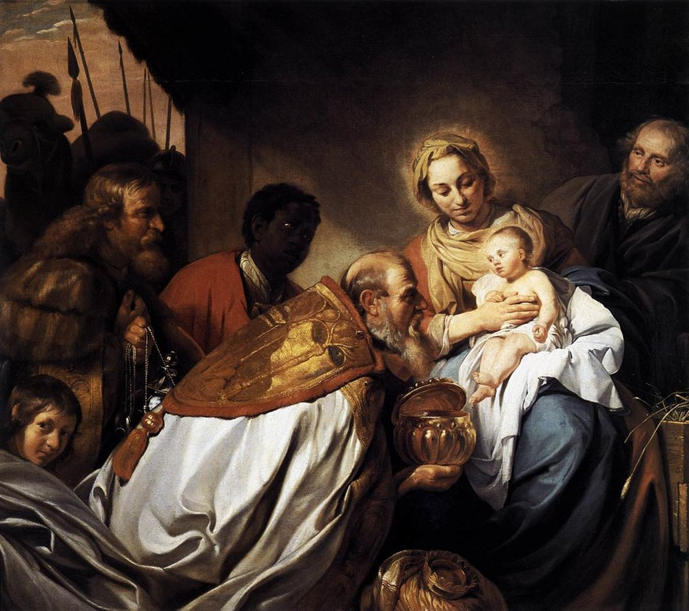 Jan de Bray.  The Adoration of the Magi.  1674, oil on canvas, Historical Museum of Bamberg, Germany.